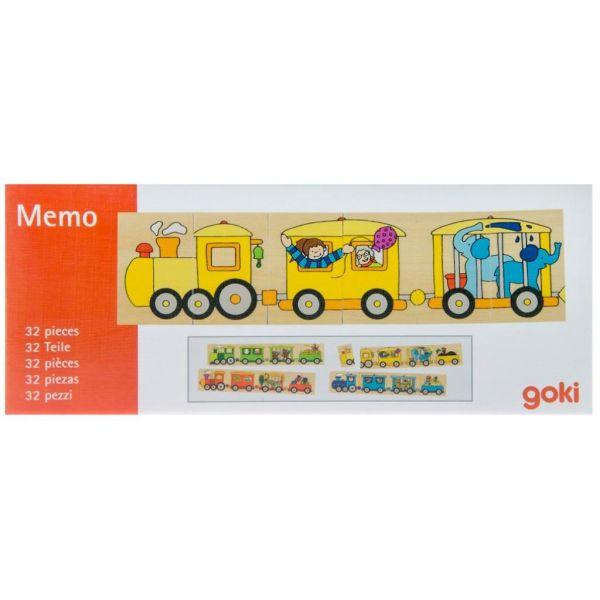 Пазл деревянный Goki Цветной паровоз (56945)